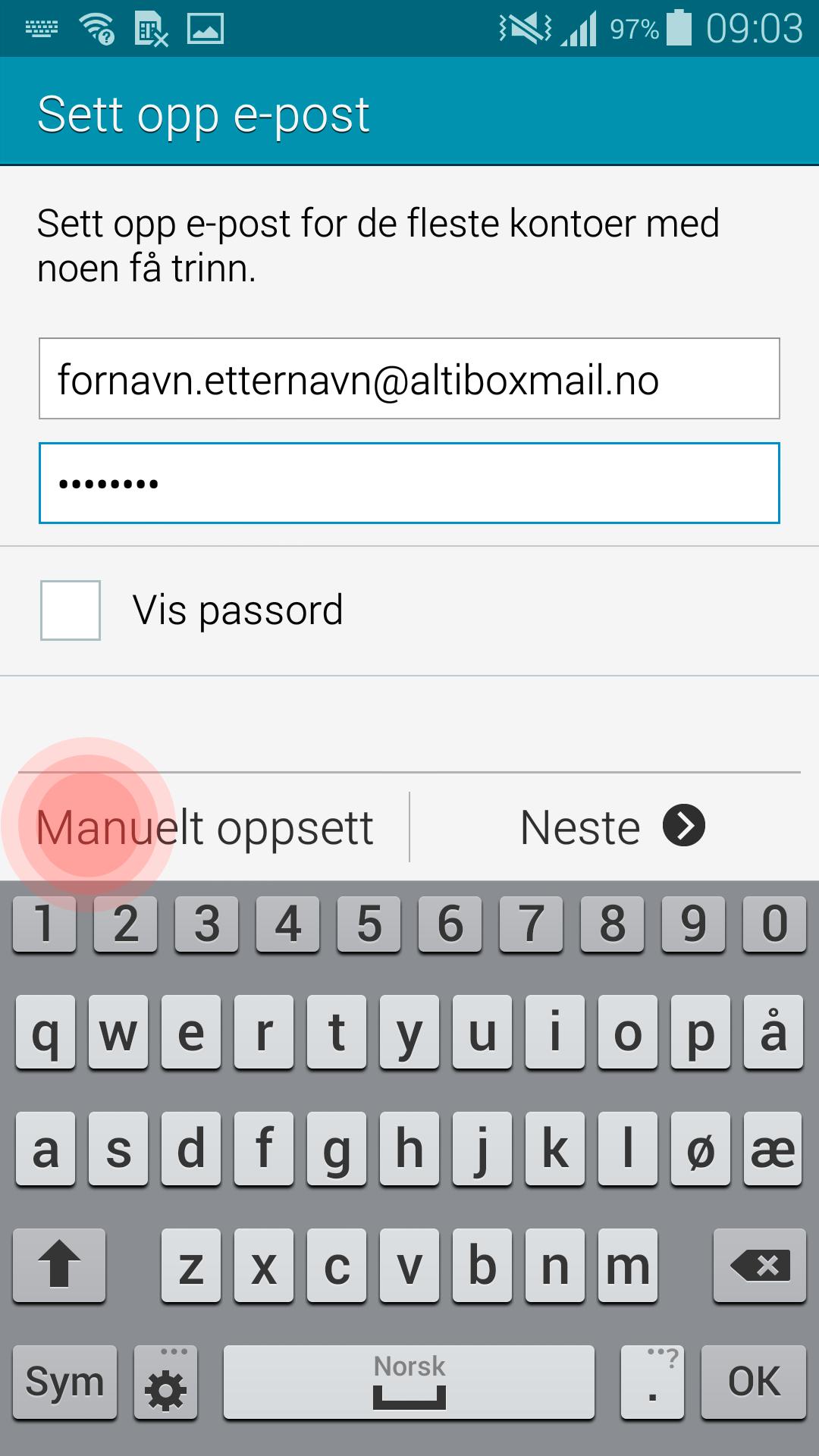 Brukerveiledning_e-post_Android-Steg-2