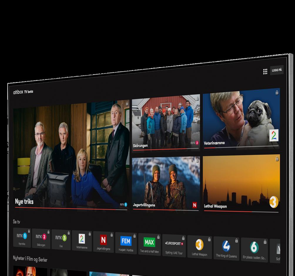 Bilde som viser vår TV-platform