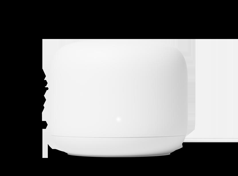 Hvit google Nest wifi ruter