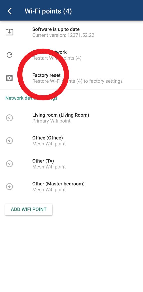 Skjermbilde fra Google Home-appen